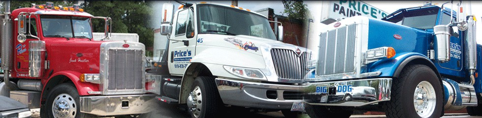 Price's Tow Trucks, Rollbacks, Wreckers